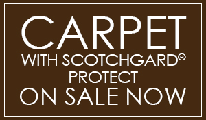 Carpet with Scotchgard Protect on sale now starting at $2.79 Sq. Ft. - Standard installation with deluxe cushion. 4 colors in-stock. Come visit our showroom in Antioch, California!