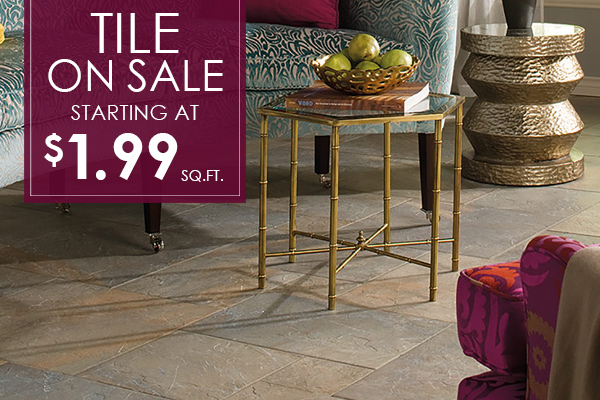 Tile on sale now starting at only $1.99 Sq. Ft. - For over 34 years Abbey Carpet by Fashion Floors has been serving our community with a huge selection in flooring, great customer service, and expert installation. Come visit our showroom in Antioch, California!
