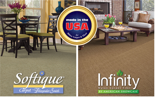Made in the USA for Abbey Carpet & Floor.